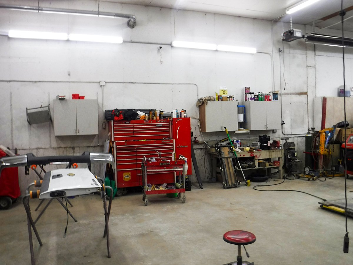 Interior of Schmidtke Auto Body shop